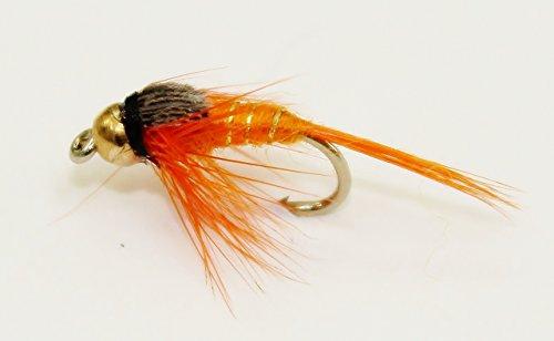 Köder 33J, für Fliegenfischen, goldene Köpfe, 30 Stück