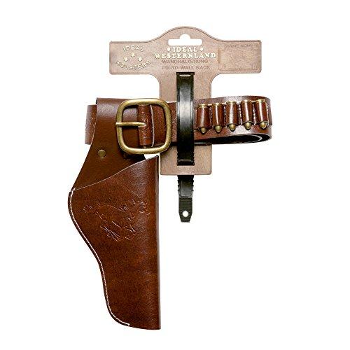 Schrödel 750 0120 - Lederimitatgürtel, 65-90 cm (Holster Revolver)