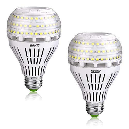 SANSI E27 LED Lampe Energiesparlampe 30W(ersetzt 250W) 4000lm Super Helle 5000K Tageslicht LED Leuchtmittel A21 Glühbirne Nicht dimmbar 2er-Pack (150w Led-lampe)
