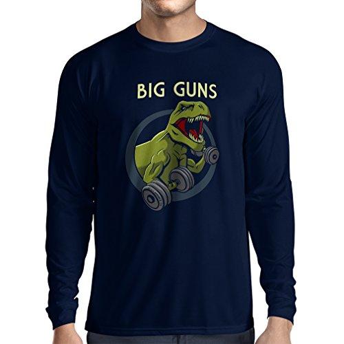Bären Custom Schwarz T-shirt (Langarm Herren t shirts Trainieren Sie hart - für Gewichtheben und für Kniebeugen - Fitness, Crossfit, Gewichtsverlust (Large Blau Mehrfarben))