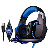 Hjd-cuffia E-Sports Gioco Headset Vibration Subwoofer Cuffie per Computer (Color : C)