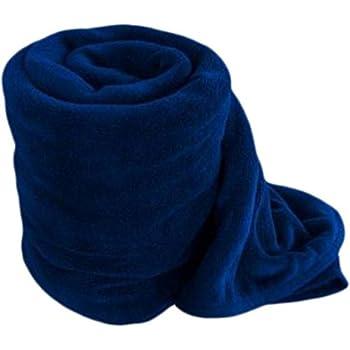 NKK PNP PANIPAT Manufactured Double Fleece Polar Blanket (Blue)