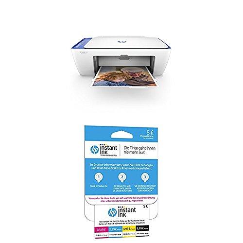 HP DeskJet 2630 Multifunktionsdrucker + HP Instant Ink Karte (Tarif für 15, 50, 100 oder 300 Seiten pro Monat)
