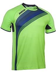 Joma - Camiseta elite v verde fluor m/c para hombre