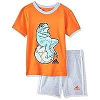 اديداس بدلة رياضة للاولاد ، قطن ، متعدد الالوان