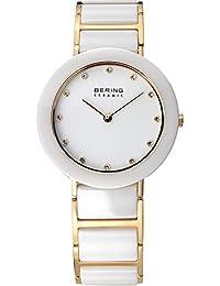 BERING Ceramic Analog White Dial Women's Watch-11429-751