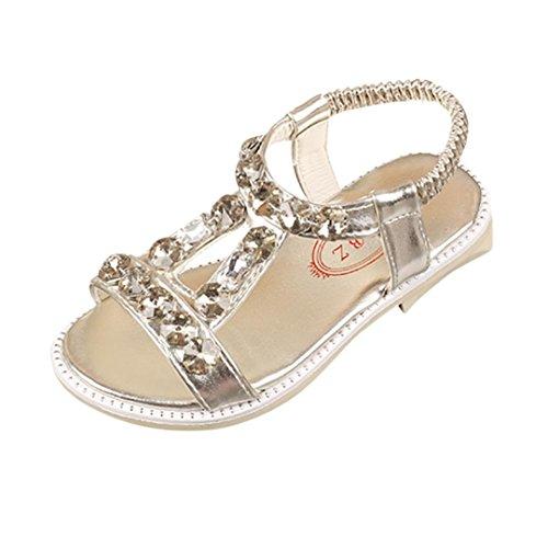 Bild von Hunpta Baby Mädchen Sandalen, Sommer Kinder Baby Mädchen Sandalen Kristall Strand Sandalen Prinzessin Roman Schuhe