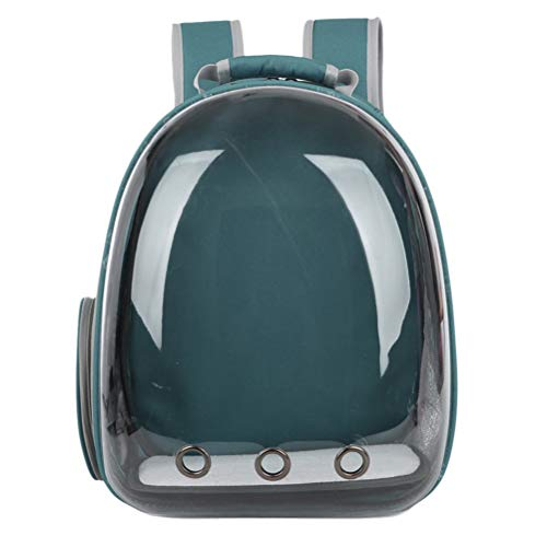 POPETPOP Portable pet cat Dog Puppy Backpack Carrier Bubble 360 Degree transparent Space Capsule...