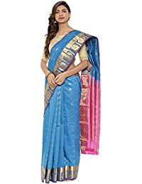 CLASSICATE From the house of The Chennai Silks Traditional Silk Saree (CCMYSS10382 - Blue Jewel)