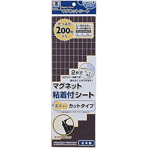Mag x-adhesivo imán hoja con mini -  mini tipo T cortó - 0,8 x W x 100 H300mm MSWFMMC-08 (importado de Japón)