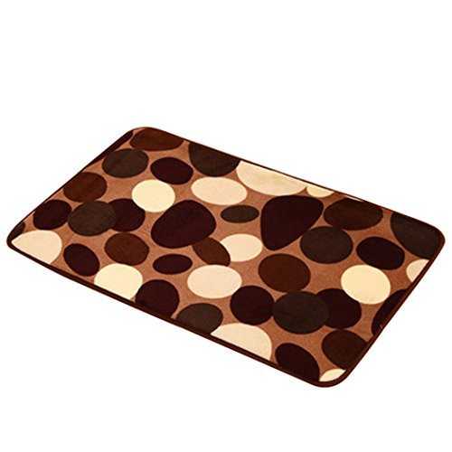 zhouba 40x 60cm Blume mit Hundemotiv Fußmatte Eingang Welcome rutschfest Coral Samt Matte im Badezimmer Matte, 1#, Einheitsgröße