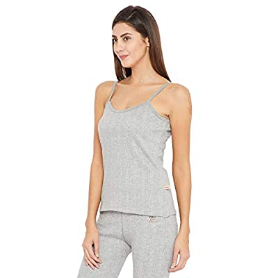 VIMAL JONNEY Thermal Light Grey Camisole Top for Women (Thermal_CamiMlng_01-P)
