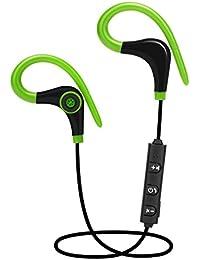 Webla Auricular impermeable Bluetooth 4.1 gancho de oído inalámbrico deportes jogging auricular estéreo para iPhone iPod iPad Samsung Galaxy y más