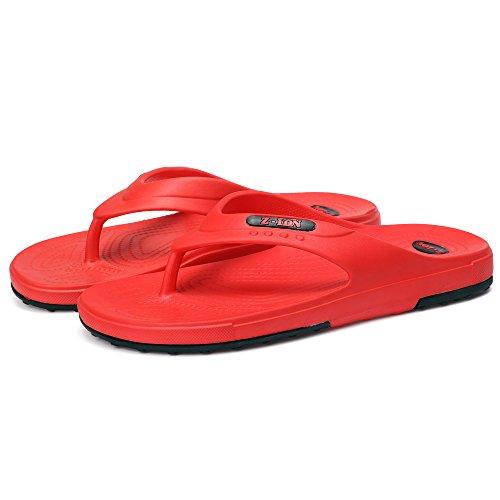 Sixspace Unisex-Erwachsene Zehentrenner Flip Pantoffeln für Damen Herren Kinder,Blau 32 EU