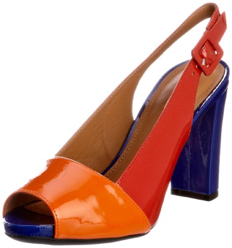 Geox Donna Egizia Sand.2 D22N5Z00066C7240, Damen Pumps, Rot (red/lt orange C7240), EU 38