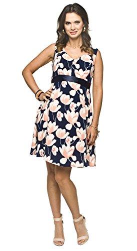 2in1 Elegantes und bequemes Umstandskleid/Stillkleid, Modell: RIPI (Alia),dunkelblau, Größe L