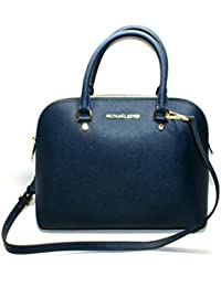 0b29185a67c7 Michael Kors Cindy Large Dome Leather Satchel/ Crossbody Bag (Navy)  #30S5SCPS3L