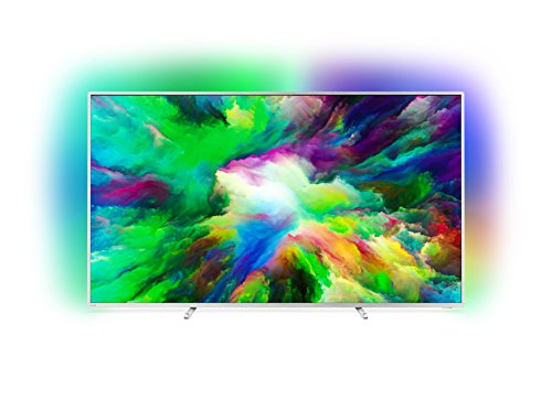 Philips 75PUS7803/12 75-Inch 4K Ultra HD Android Smart TV with HDR Plus and 3-sided Ambilight (2018 Model) - Light Silver