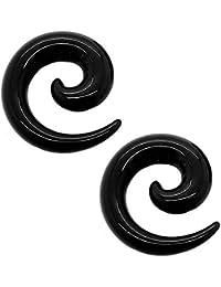 tumundo Set de 16 Piezas / 1 Par Espiral Extensor de Acrilico Dilatador Taper Expansor Stretcher
