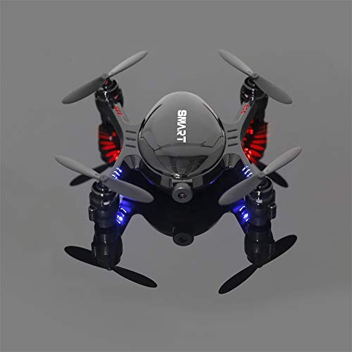 LZL 2,4 GHz 720P Video FPV RC Quadcopter mit 0.3MP eingebauter Kamera Höhe halten Schwarz -