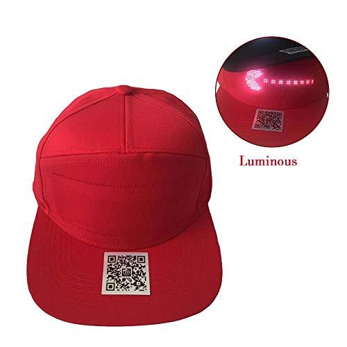 Teepao LED-Anzeigen-Hut, Touristischer Hut Bluetooth, Ultra Helle Wasserdichte LED-Licht-Hysteresenkappen Perfekt Für Joggen Im Freien, Hip-Hop-Party, Nachtclub-Urlaub Und Vieles ()