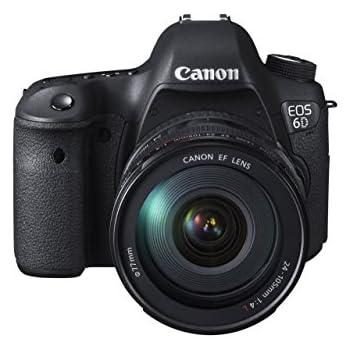 Canon EOS 6D SLR-Digitalkamera (20,2 Megapixel CMOS-Sensor, Live View, Full HD, WiFi, GPS, DIGIC 5+) Kit inkl. EF 24-105mm 1:4 L IS USM Objektiv schwarz