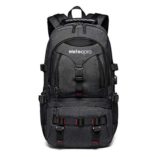 EletecPro Rucksack Damen Herren, Laptop Rucksack mit USB Multifunktionsrucksack für Männer mädchen Arbeit, Reisen, Trekking, Einkaufe,Schule besuchen Antidieb für Laptops bis 17 Zoll
