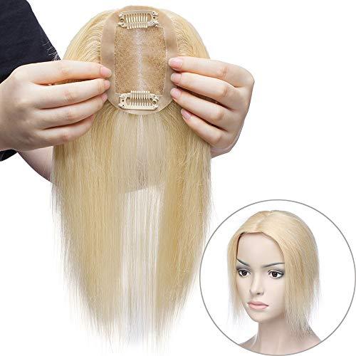 Haarteil Toppr Remy Echthaar Clip in Extensions Haarverlängerung Pony Toupee Frauen Toupet Hellblond#613 14