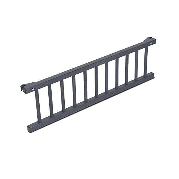 Babybay Guardrail for Maxi/Boxspring, grey varnished babybay Interlocking grate for Maxi and Boxspring cot bed Attaches quickly and easily Safe, sturdy and robust 1