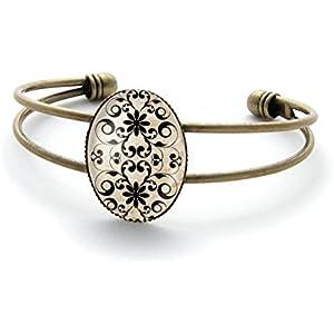 Armband mit cabochon, Arabesken
