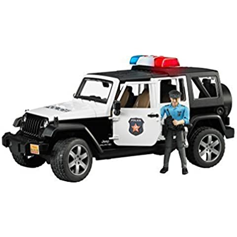 Bruder 02526 Jeep Wrangler Unlimited Rubicon Police Car With Policeman Vehicle by Bruder - Wrangler Unlimited Rubicon