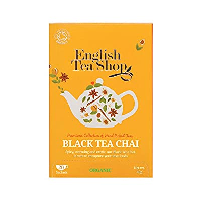 English Tea Shop Thé Noir Chai Bio 20 Sachets 40 g