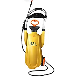 LXY Rociador de riego del Agua de riego de aspersión Botella de Spray Botella lavaojos desinfección móvil Doble Regadera (Color : Amarillo)