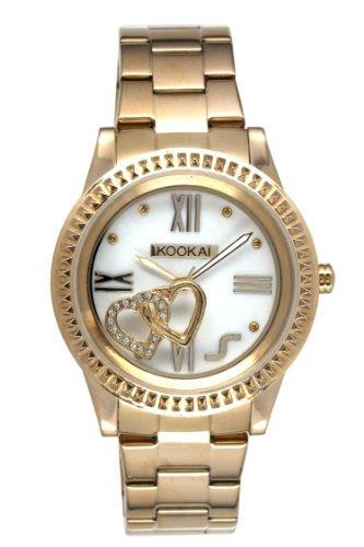 Kookaï - KO 037/1BM - Montre Femme - Quartz Analogique - Cadran Blanc - Bracelet Acier plaqué Do