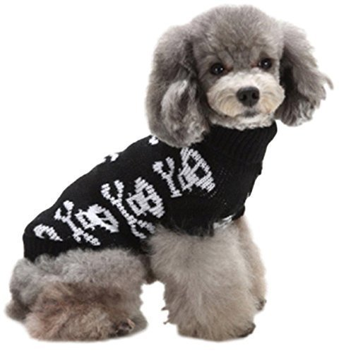 nd Katze Winter Weihnachten Pullover mit Kapuze Kapuzenpulli Pullover Oberteil Kleidung XS-XXL - Schwarz Totenkopf, Medium ()