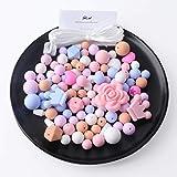 Mamimami Home Silikon Beißring Perlen Hexagon DIY Baby Zahnen Armband Zubehör Lebensmittelqualität Baby Beißring Spielzeug