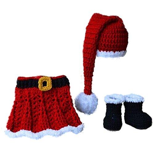 Jastore ® Foto Fotografie Prop Baby Kostüm Halloween Weihnachten Stricken Handarbeit (Style 12)