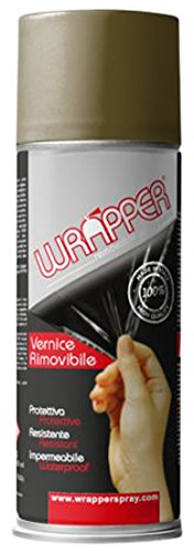 Quattroerre 16441 Wrapper Spray Vernici Rimovibili Tinta Camouflage, Olive