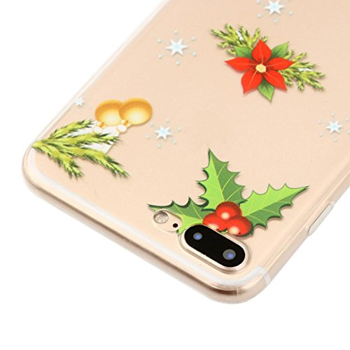 Ouneed® Für iPhone 8 plus 5.5 Zoll Hülle , Christmas Transparent TPU Silikon Schutz Handy Hülle Case Tasche Silikon Crystal Case Durchsichtig Schutzhülle For iPhone 8 plus 5.5 Zoll (C) G