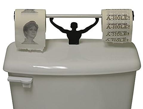 Fairly ODD Novelties Hillary Clinton ahole Neuheit WC-Papier mit starker Mann Halterung politischen Geschenk Set