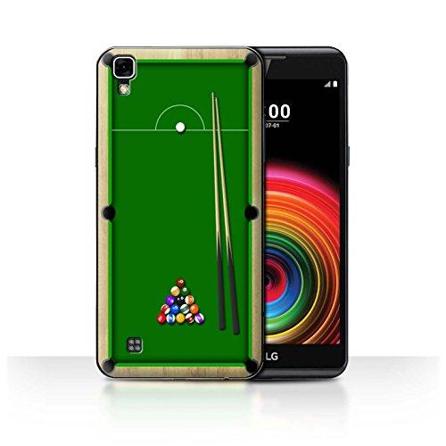 Stuff4 Hülle / Case für LG X Power /K220/K450 / Billard Grün Muster / Spiele Kollektion