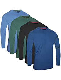 FULL TIME SPORTS FTS-640 4 Pack Sortierte Solid Dye Langarm T-Shirt