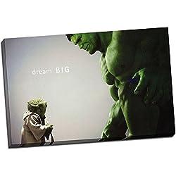 Panther Print Hulk cómic película, cuadro en lámina enmarcado, impresión 20 x 76,2 cm A1