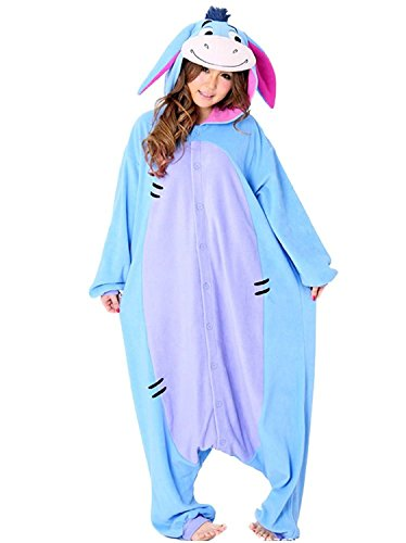 SAMGU Arsch Unisex Adult Tier Onesie Pyjama Kostüm Kigurumi Schlafanzug Erwachsene Tieroutfit Jumpsuit Farbe Blau Größe M