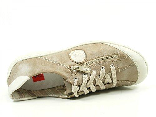 Rieker M3724 Chaussures de ville à lacets pour femme Grau