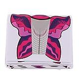 B Baosity 500 Stück Nagel Schablonen Modellier Schablone selbstklebend für Gel-Nägel Nagel-Verlängerung - 100 Stück