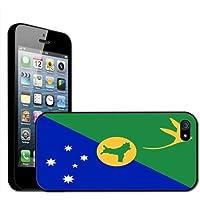 Fancy A Snuggle - Cover rigida posteriore clip on per iPhone 5, motivo: bandiera dell'Isola di Christmas