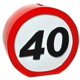 Spardose Verkehrsschild 40