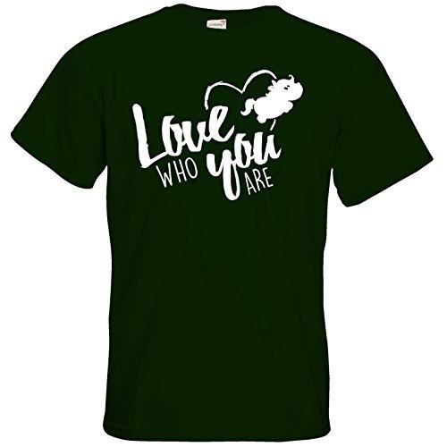 getshirts - Pummeleinhorn - T-Shirt - love who you are Bottle Green