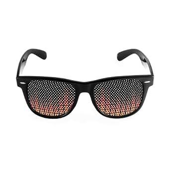 Equalizer Black Frame Party Wayfarer Sunglasses, Party Shades, Pinhole Sunglasses, Fun Fashion Printed Shades by Gangtoyz